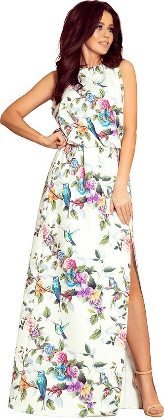 Sukienka NUMOCO bez rękawów maxi z okrągłym dekoltem