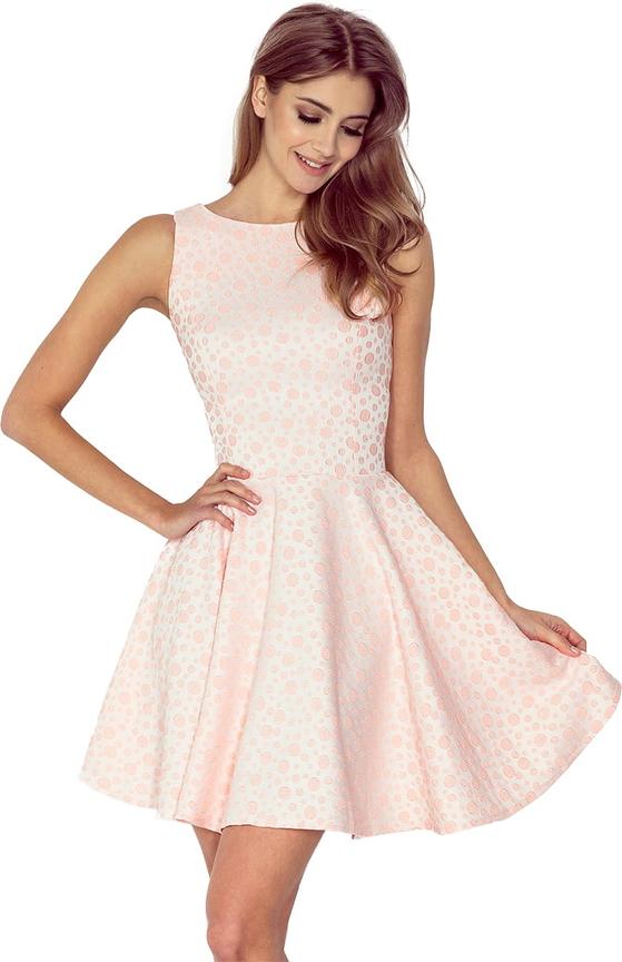Sukienka NUMOCO bez rękawów mini z żakardu