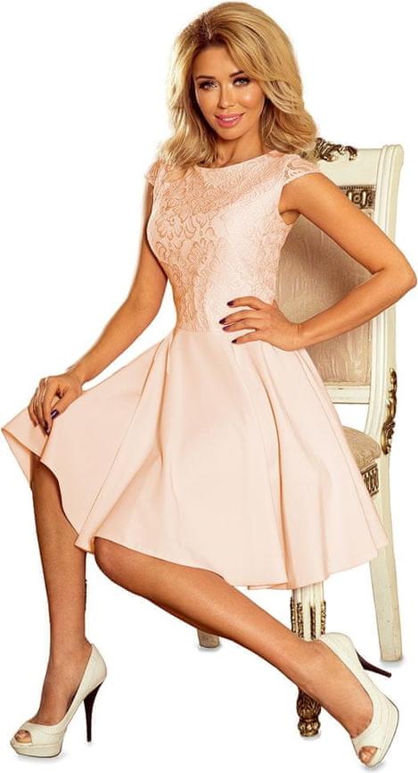 Sukienka NUMOCO midi z krótkim rękawem z okrągłym dekoltem