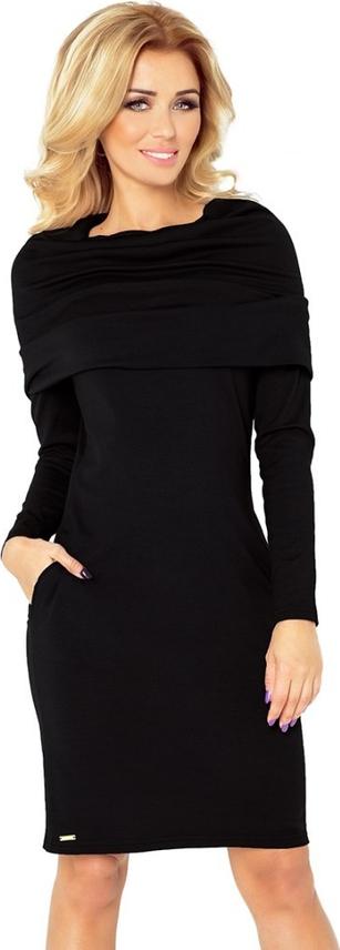 Sukienka NUMOCO mini z golfem z długim rękawem