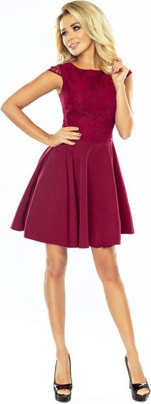 Sukienka NUMOCO mini z okrągłym dekoltem rozkloszowana