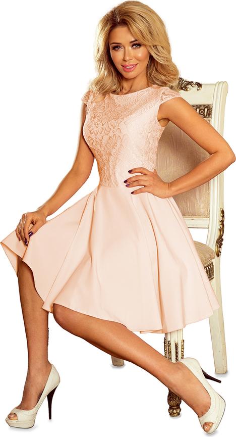 Sukienka NUMOCO z okrągłym dekoltem bez rękawów rozkloszowana