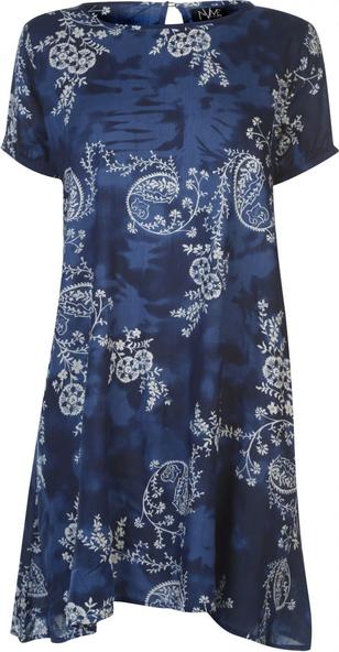 Sukienka Nvme z okrągłym dekoltem z krótkim rękawem w stylu casual