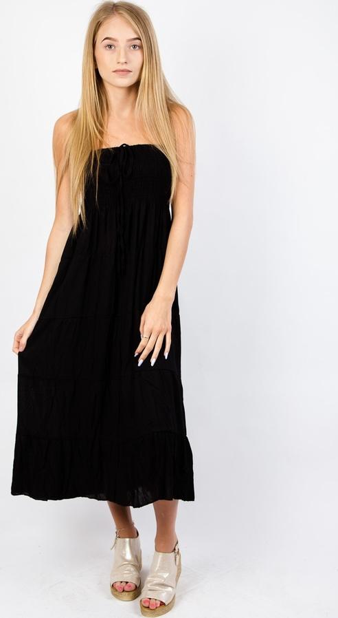 Sukienka Olika bez rękawów prosta maxi