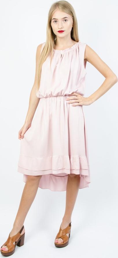 Sukienka Olika mini bez rękawów asymetryczna