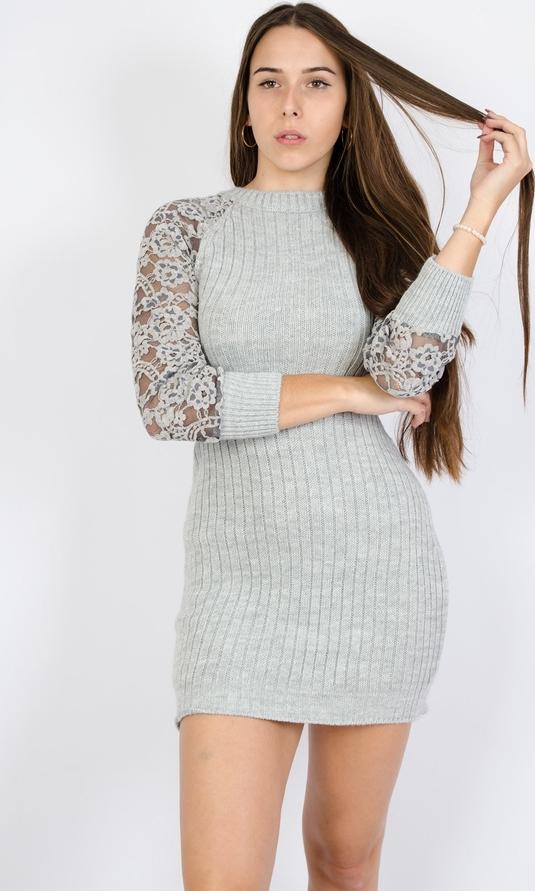 Sukienka Olika mini w stylu casual z długim rękawem