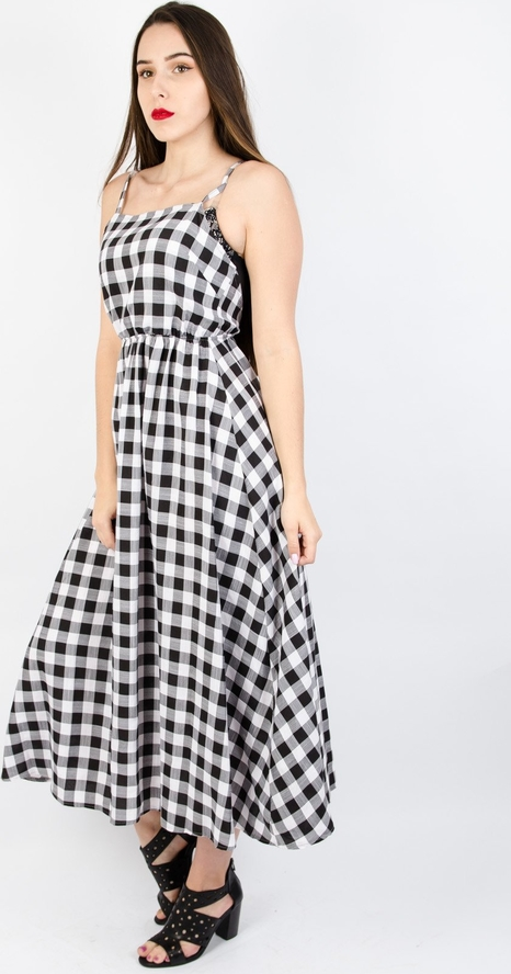 Sukienka Olika rozkloszowana maxi na ramiączkach