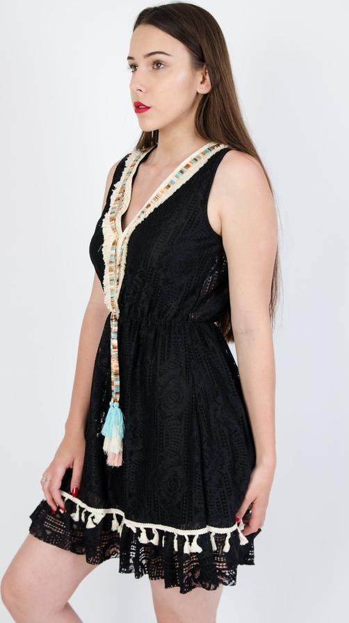 Sukienka Olika w stylu casual mini z dekoltem w kształcie litery v