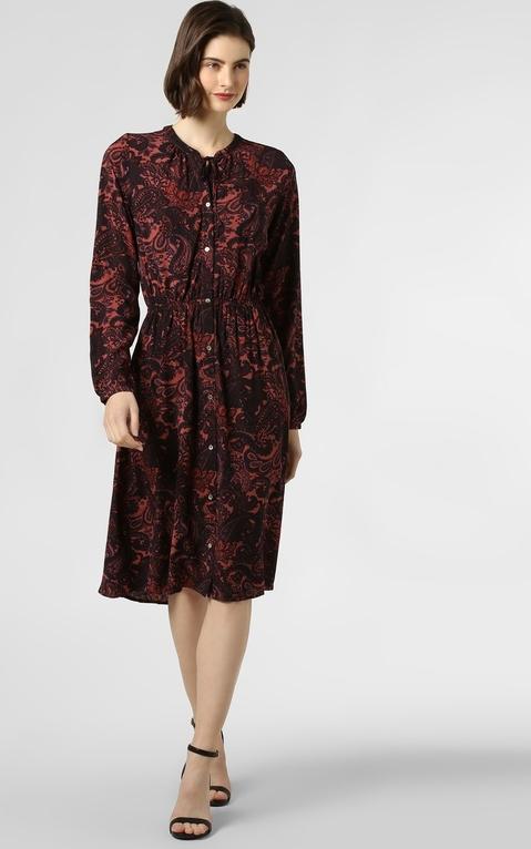 Sukienka Only midi koszulowa z długim rękawem