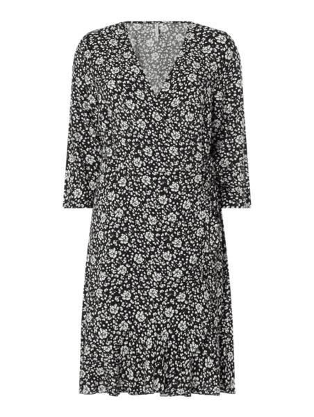 Sukienka Only z długim rękawem w stylu casual z dekoltem w kształcie litery v