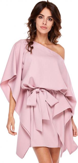 Sukienka Ooh la la mini oversize z długim rękawem