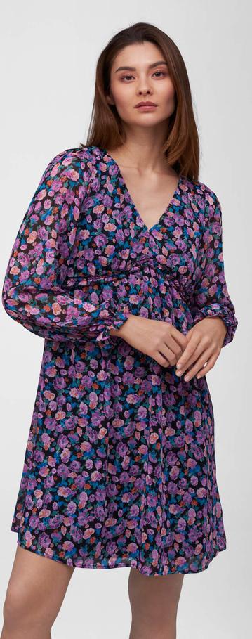 Sukienka ORSAY z dekoltem w kształcie litery v mini z długim rękawem