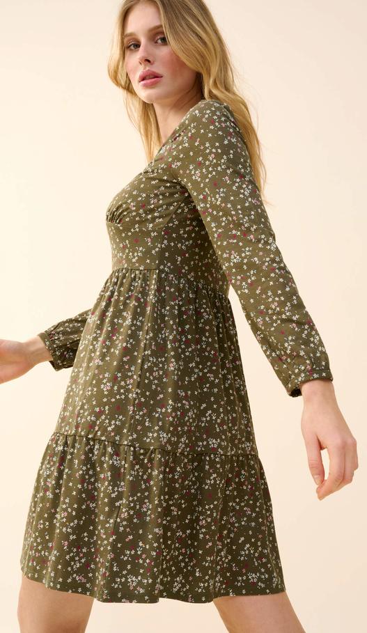 Sukienka ORSAY z długim rękawem mini z dżerseju