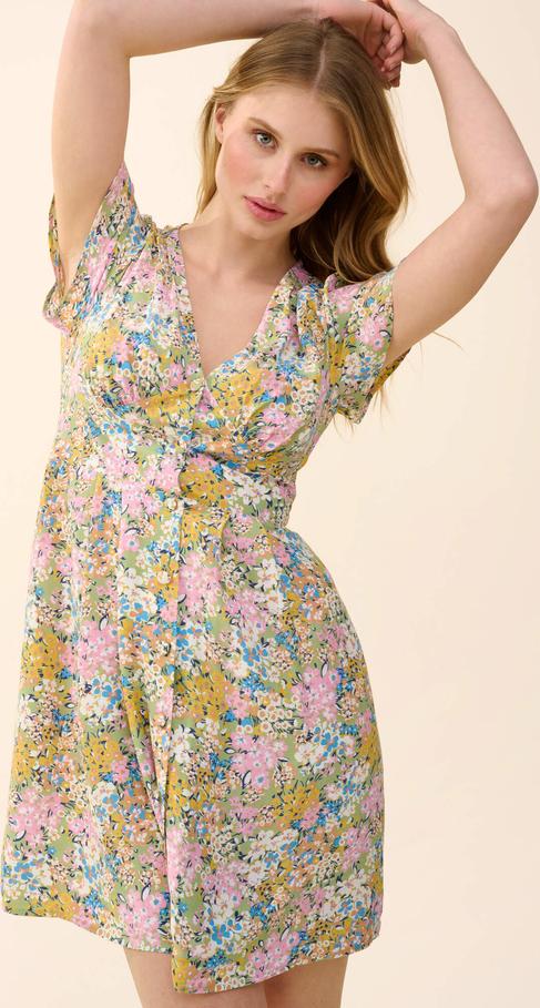 Sukienka ORSAY z długim rękawem z tkaniny mini