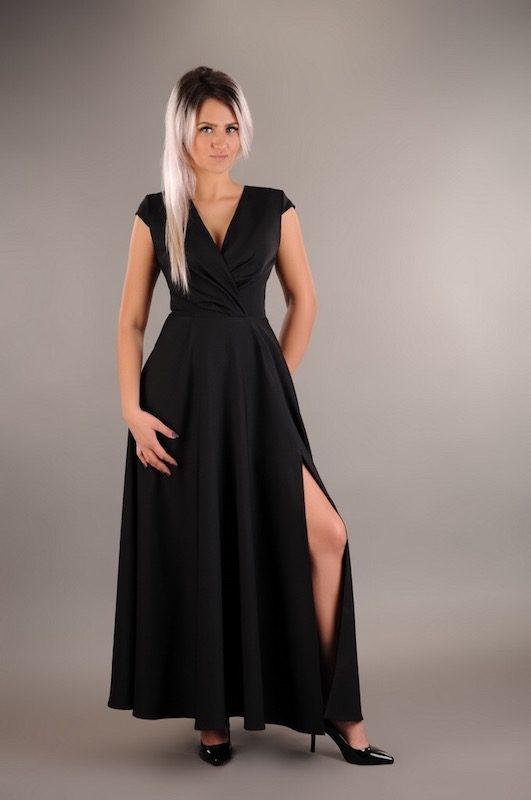 0aedcdf3d3465f Czarna sukienka Oscar Fashion