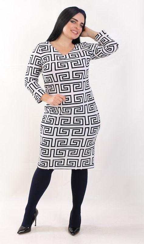 Sukienka Oscar Fashion midi z długim rękawem