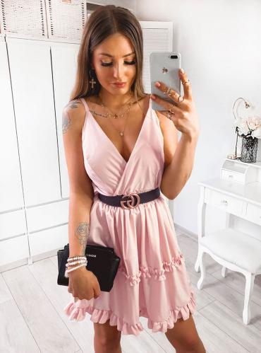 Sukienka Pakuten mini rozkloszowana w stylu casual
