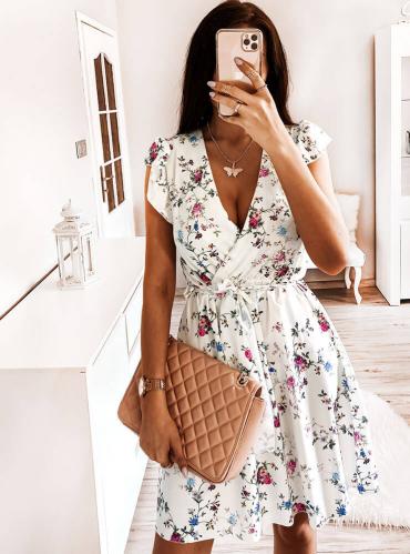 Sukienka Pakuten w stylu casual z dekoltem w kształcie litery v bez rękawów