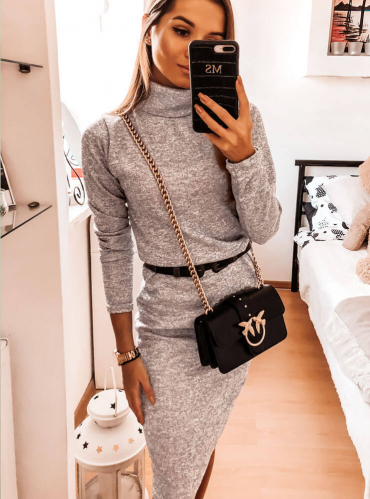 Sukienka Pakuten z golfem z bawełny