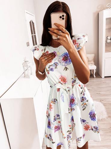 Sukienka Pakuten z okrągłym dekoltem