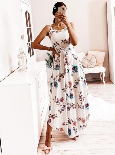 Sukienka Pakuten z tkaniny asymetryczna