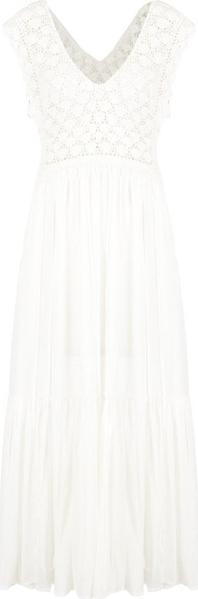 Sukienka Pepe Jeans bez rękawów rozkloszowana z dekoltem w kształcie litery v