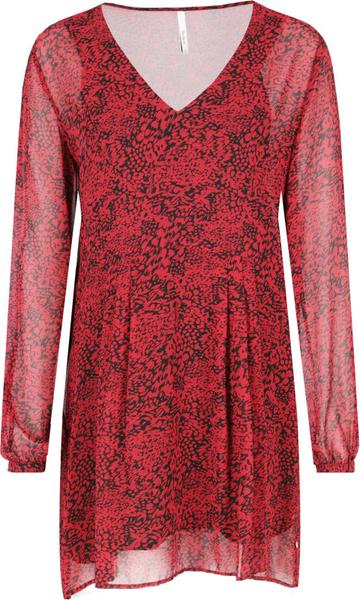 Sukienka Pepe Jeans z dekoltem w kształcie litery v w stylu casual z długim rękawem