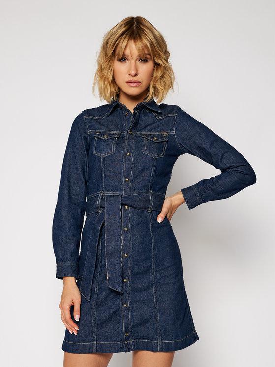 Sukienka Pepe Jeans z długim rękawem w stylu casual
