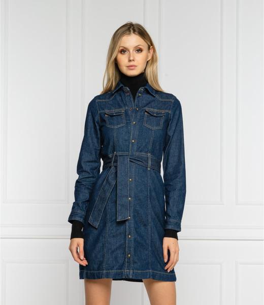 Sukienka Pepe Jeans z jeansu w stylu casual