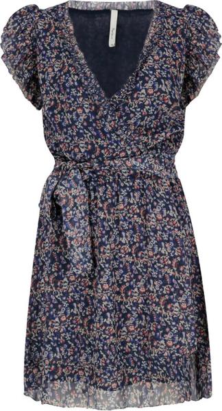 Sukienka Pepe Jeans z krótkim rękawem z dekoltem w kształcie litery v mini