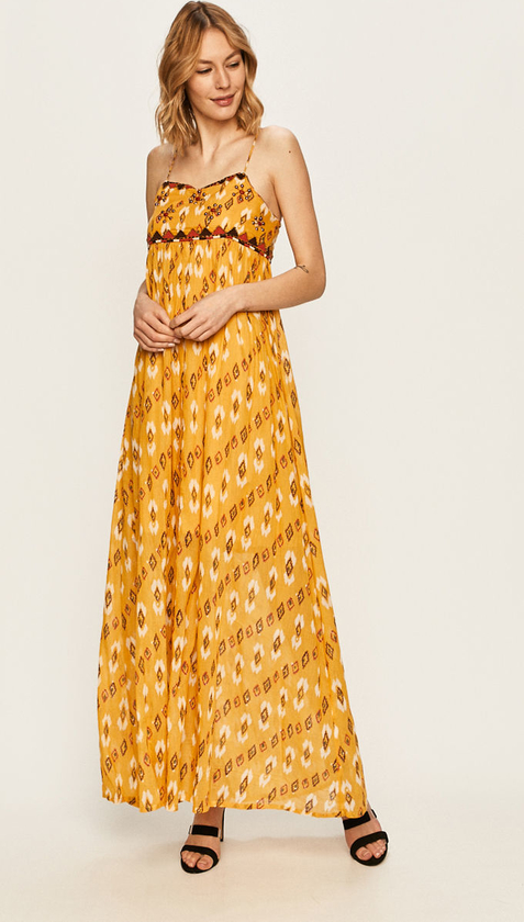 Sukienka Pepe Jeans z tkaniny w stylu boho maxi