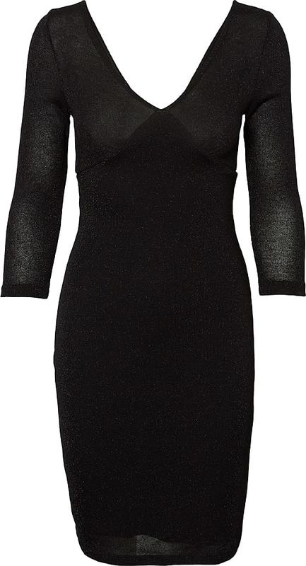 Sukienka Pieces dopasowana mini z długim rękawem