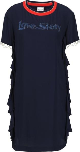 Sukienka Pinko midi z krótkim rękawem