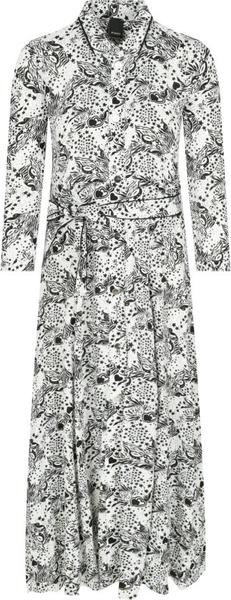 Sukienka Pinko z długim rękawem maxi koszulowa