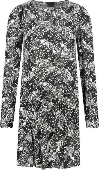 Sukienka Pinko z długim rękawem prosta z okrągłym dekoltem