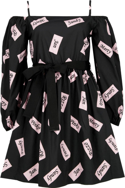 Sukienka Pinko z długim rękawem w stylu etno