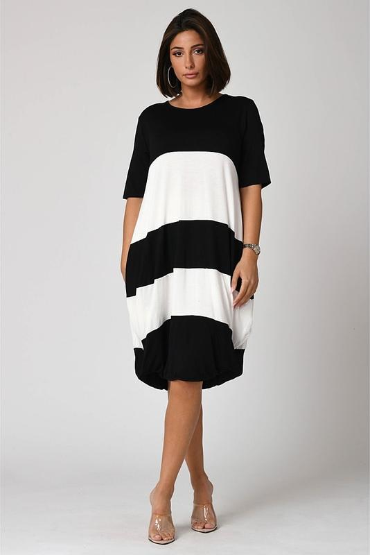 Sukienka Plus Size Fashion mini z długim rękawem bombka