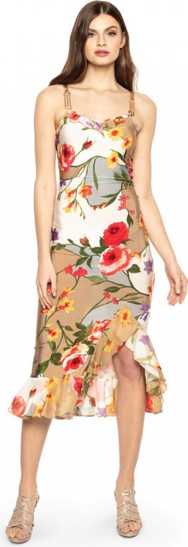 Sukienka POTIS & VERSO w stylu boho asymetryczna