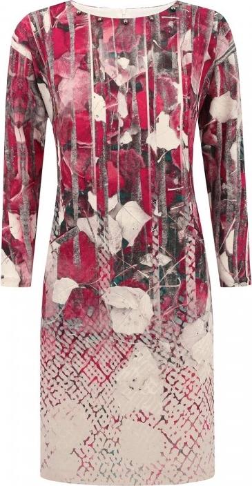 Sukienka POTIS & VERSO z długim rękawem w stylu casual z okrągłym dekoltem