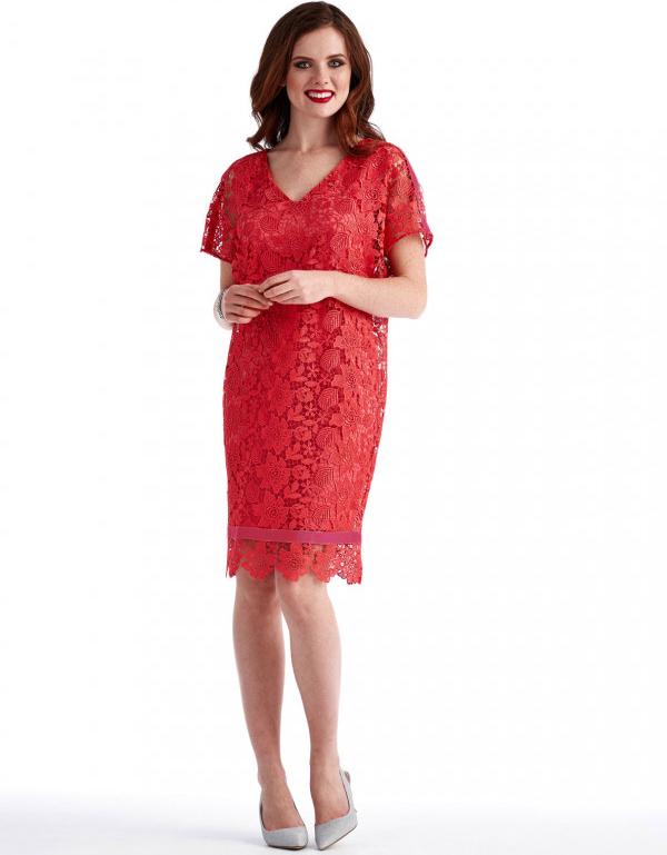 Sukienka POTIS & VERSO z krótkim rękawem midi
