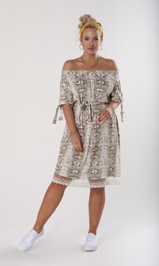 Sukienka Ptakmoda.com hiszpanka z długim rękawem midi