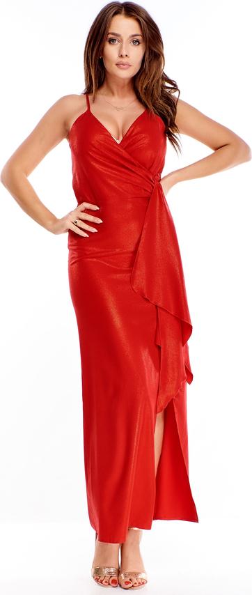 Sukienka Ptakmoda.com maxi z dekoltem w kształcie litery v