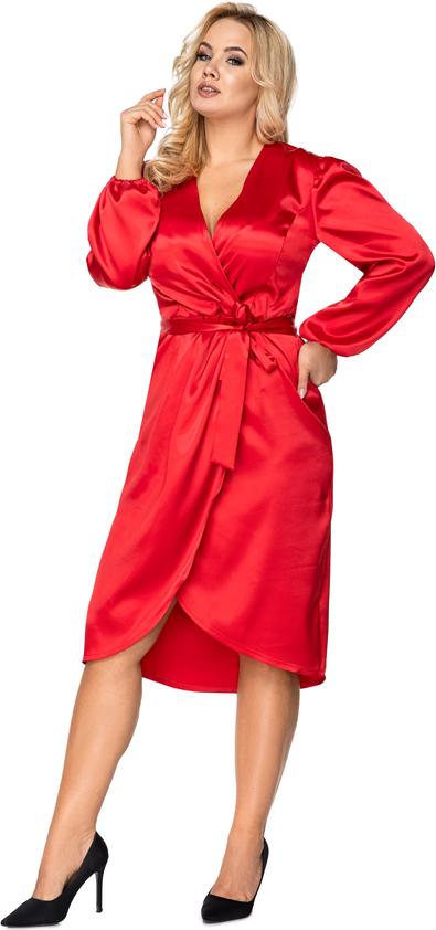 Sukienka Ptakmoda.com midi z długim rękawem