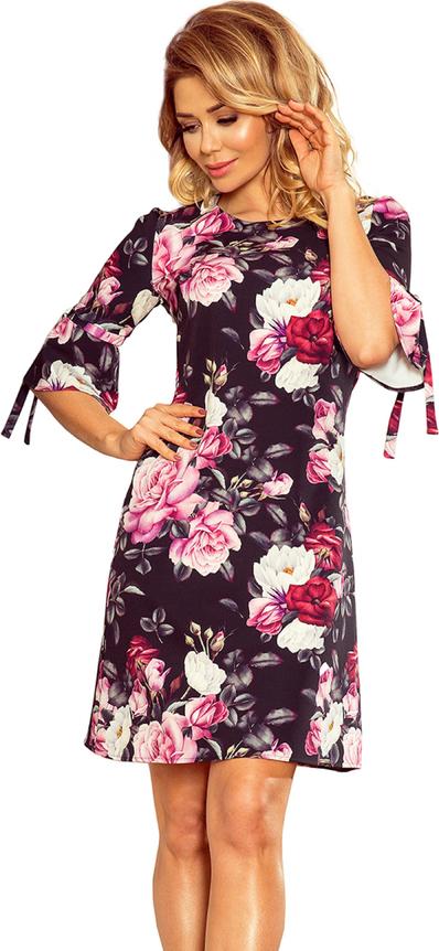 Sukienka Ptakmoda.com z długim rękawem prosta