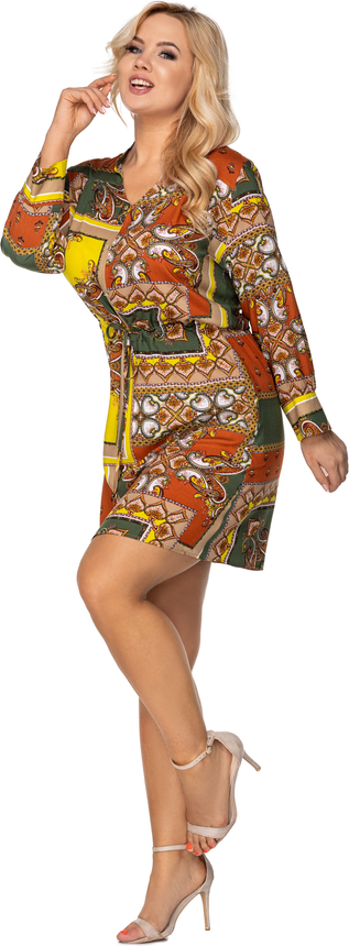 Sukienka Ptakmoda.com z długim rękawem szmizjerka