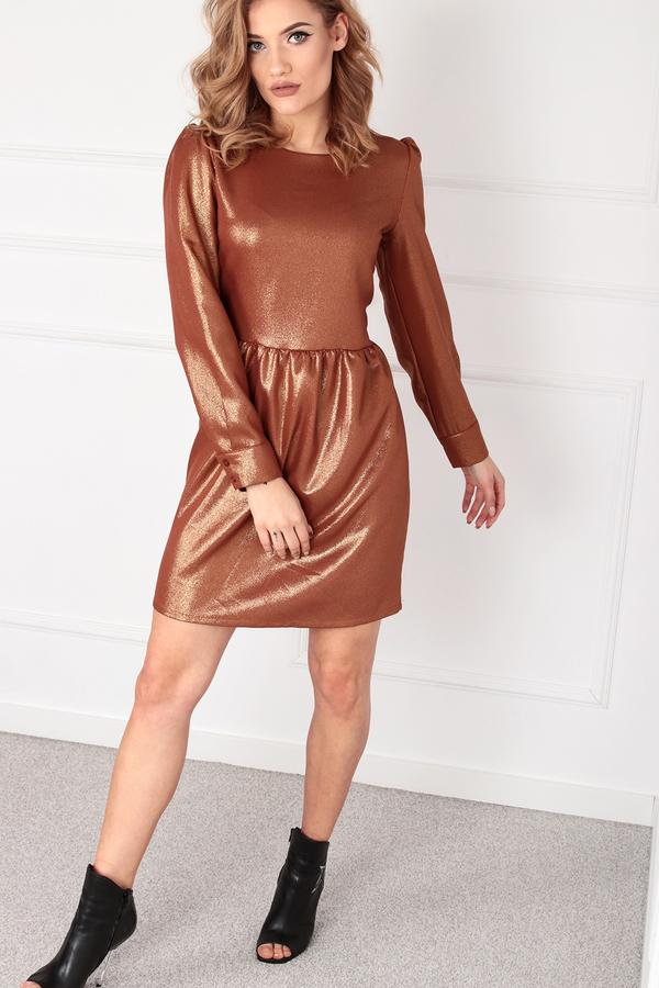 Sukienka Ptakmoda.com z okrągłym dekoltem