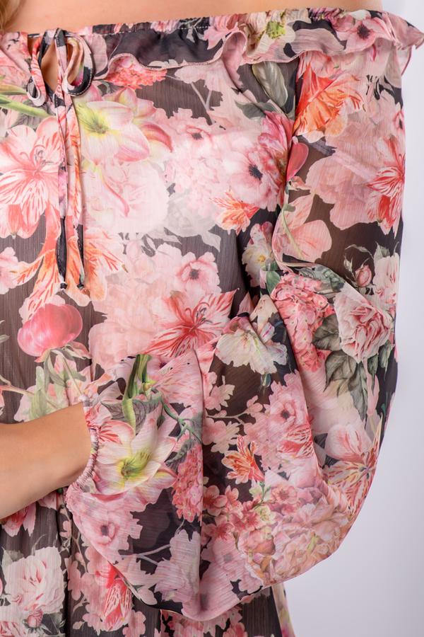 Sukienka Ptakmoda.com z tiulu mini z długim rękawem