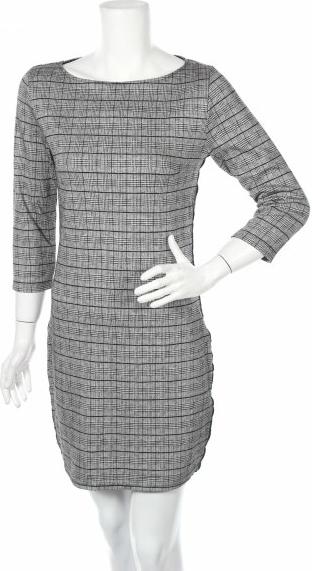 Sukienka Q/s By S.oliver z okrągłym dekoltem mini prosta