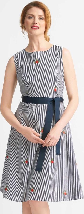 Sukienka QUIOSQUE bez rękawów w stylu casual z okrągłym dekoltem