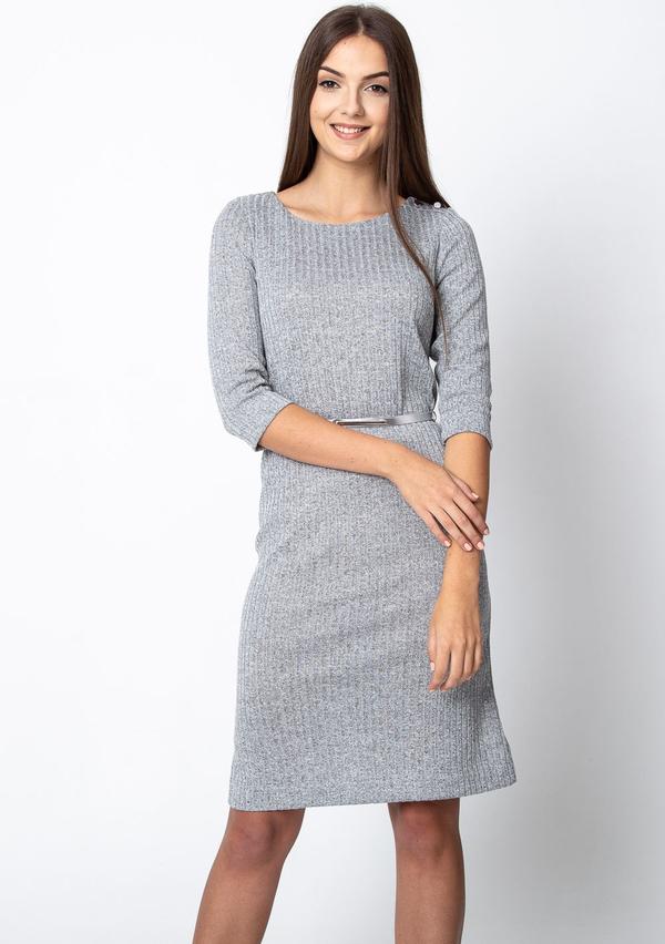 Sukienka QUIOSQUE z okrągłym dekoltem w stylu casual mini